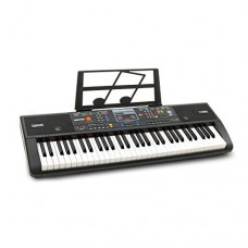 Plixio 61-Key Electric Piano Keyboard with Music Stand
